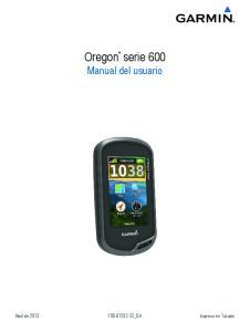 Oregon serie 600 Manual del usuario