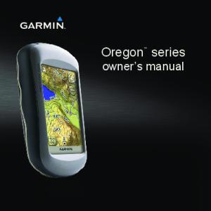 Oregon. series owner s manual