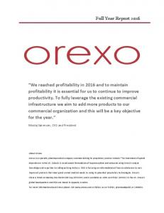 Orexo is a specialty pharmaceutical company commercializing its proprietary product Zubsolv for treatment of opioid