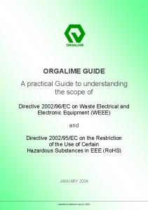 ORGALIME GUIDE A practical Guide to understanding the scope of