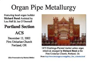 Organ Pipe Metallurgy