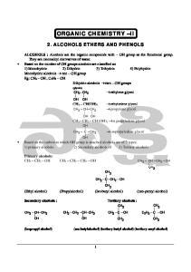 ORGANIC CHEMISTRY II
