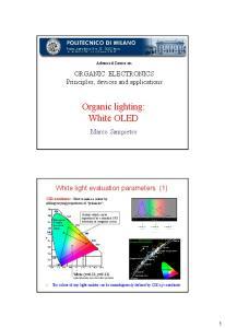 Organic lighting: White OLED