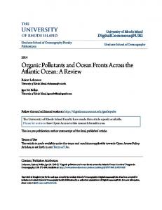 Organic Pollutants and Ocean Fronts Across the Atlantic Ocean: A Review
