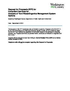 Organics Management System Options