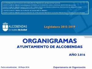 ORGANIGRAMAS AYUNTAMIENTO DE ALCOBENDAS