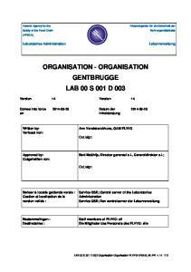 ORGANISATION - ORGANISATION GENTBRUGGE LAB 00 S 001 D 003