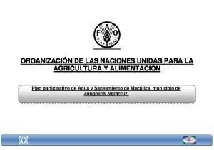 ORGANIZACIÓN DE LAS NACIONES UNIDAS PARA LA AGRICULTURA Y ALIMENTACIÓN