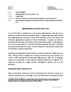 ORGANIZACIONES DE MUJERES, REDES Y TICS