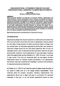 ORGANIZATIONAL CITIZENSHIP BEHAVIOUR AND ORGANIZATIONAL LEARNING CLIMATE RELATIONSHIP