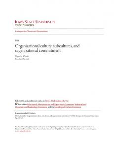Organizational culture, subcultures, and organizational commitment