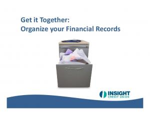 Organize your Financial Records