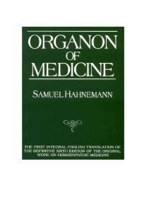 ORGANON OF MEDICIN SAMUEL HAHNEMANN