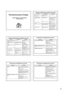 Orientaciones para el Colegio