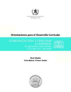 Orientaciones para el Desarrollo Curricular
