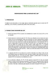 ORIENTACIONES PARA LA REVISION DEL CAP
