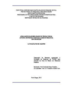 Orientador: Prof. Dr. Carlos Cezar Fritscher. Co-orientador: Prof. Dr. Humberto Holmer Fiori