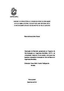 Orientador: Renan Moritz Varnier Rodrigues de Almeida. Eliane de Mattos Meira Chaves. Rio de Janeiro