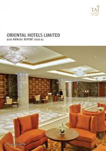 ORIENTAL HOTELS LIMITED