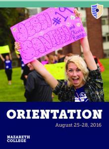 ORIENTATION August 25-28, 2016