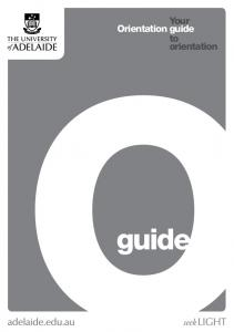 Orientation guide. Your to orientation