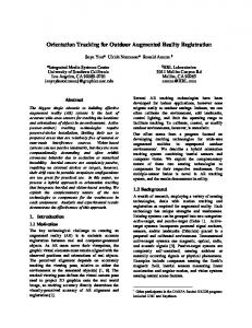 Orientation Tracking for Outdoor Augmented Reality Registration