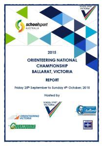ORIENTEERING NATIONAL CHAMPIONSHIP BALLARAT, VICTORIA