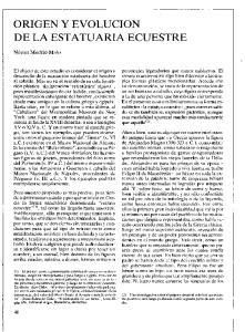 ORIGEN Y EVOLUCION DE LA ESTATUARIA ECUESTRE