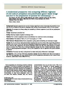 ORIGINAL ARTICLE: Clinical Endoscopy