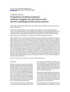 Original Article Comparision of ultrasound-based methods of jugular vein and inferior vena cava for estimating central venous pressure