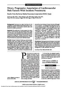 ORIGINAL INVESTIGATION. Direct, Progressive Association of Cardiovascular Risk Factors With Incident Proteinuria