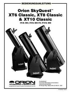 Orion SkyQuest XT6 Classic, XT8 Classic & XT10 Classic