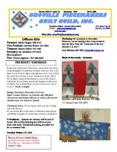 OROVILLE PIECEMAKERS QUILT GUILD, INC