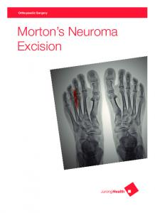 Orthopaedic Surgery. Morton s Neuroma Excision