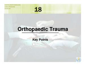 Orthopaedic Trauma Key Points