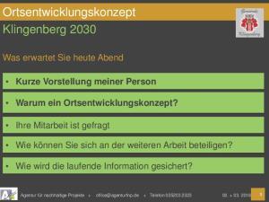 Ortsentwicklungskonzept Klingenberg 2030