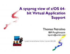 os 64- bit Virtual Application Support