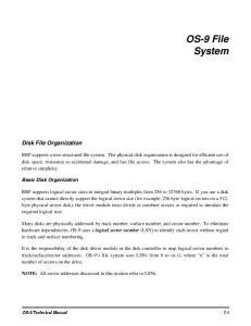 OS-9 File System. Disk File Organization