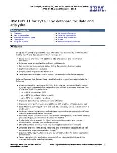 os: The database for data and analytics