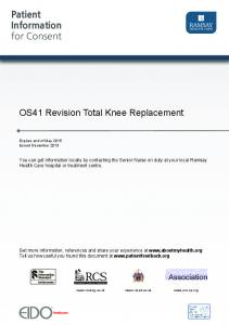 OS41 Revision Total Knee Replacement