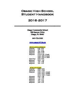 Osage High School Student Handbook