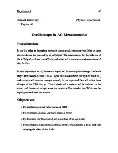 Oscilloscope in AC Measurements