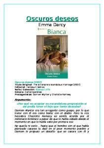 Oscuros deseos. Emma Darcy