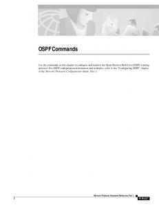 OSPF Commands. Network Protocols Command Reference, Part 1 P1R-227