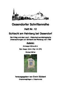 Ossendorfer Schriftenreihe