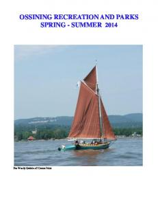 OSSINING RECREATION AND PARKS SPRING - SUMMER 2014