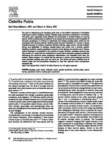 Osteitis pubis in the athlete is a painful, inflammatory,