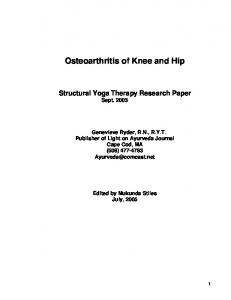 Osteoarthritis of Knee and Hip