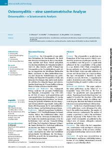 Osteomyelitis eine szentometrische Analyse