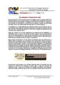OSTEOPOROSIS: MEDIDAS PREVENTIVAS